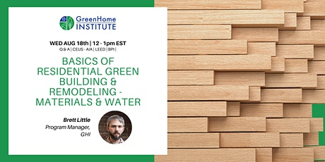 Basics of Residential Green Building and Remodeling - Session 4 tickets