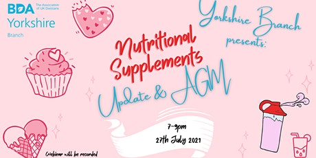 Nutritional Supplements Update and AGM tickets