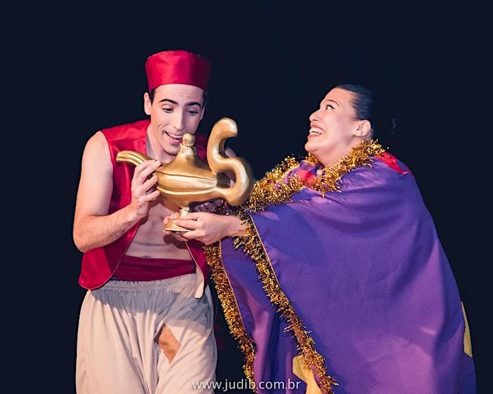 Imagem do evento DESCONTO! Espetáculo Aladdin Cantado Ao Vivo no Teatro BTC