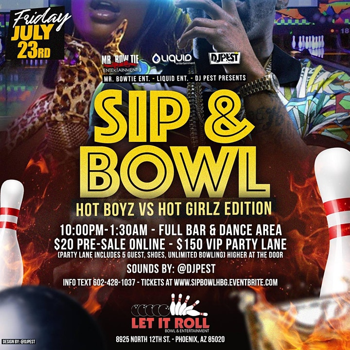 Sip & Bowl -Hot Boyz vs Hot Girlz  Edition image
