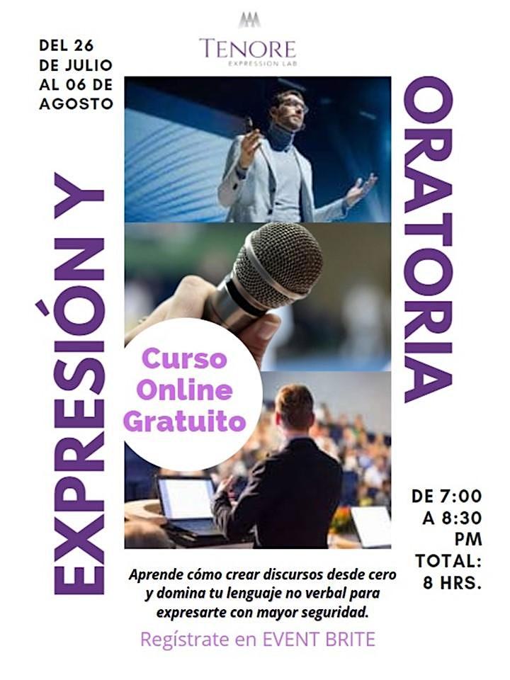 Imagen de Curso en línea Oratoria y Expresión- Gratis