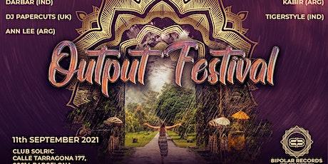 Output Festival entradas