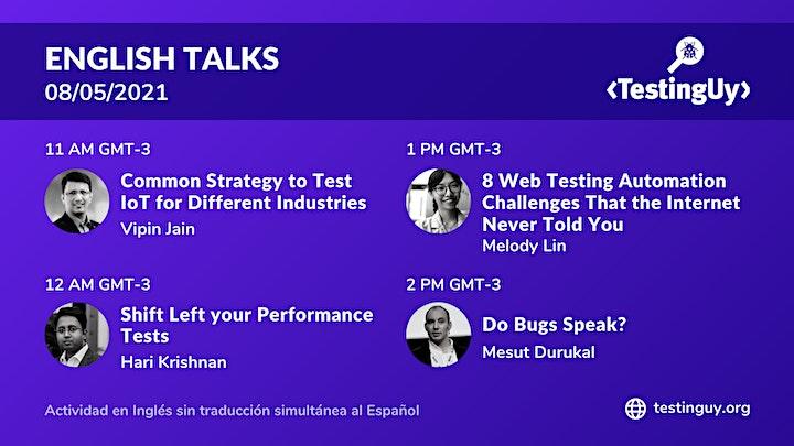 TestingUy 2021 - Charlas|Talks image