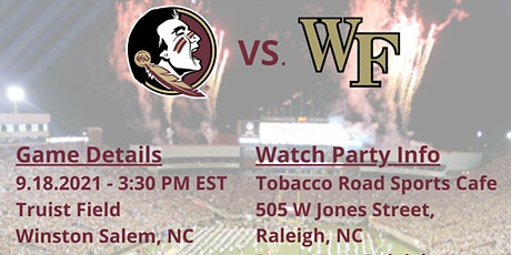 Game Watch Party FSU vs Wake Forest tickets