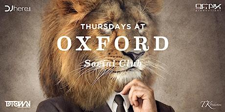 Thursdays at Oxford Social Night Club tickets