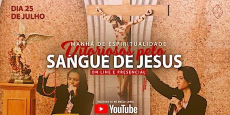 Manhã de Espiritualidade  do Sangue de Jesus - PRE ingressos