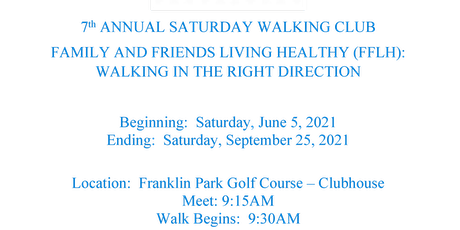Family and Friends Living Healthy (FFLH) Saturday Morning Walking Group tickets