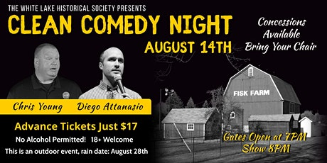 Clean Comedy Night at Fisk Farm tickets