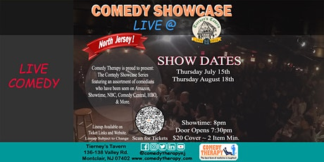 Northern Jersey Comedy Showcase Live @ Tierney's Tavern - August 19th, 8pm tickets