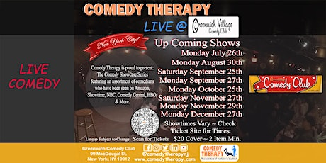 Comedy Therapy Live @ Greenwich Comedy Club - September 27th, 8pm tickets