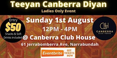 Teeyan Canberra Diyan 2021 tickets