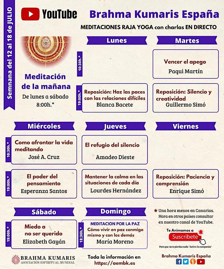 Imagen de Meditaciones y Charlas On-Line Brahma kumaris España