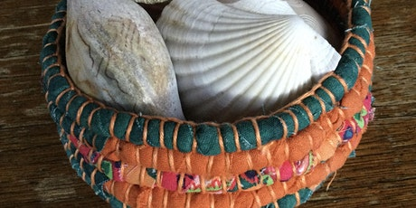 Rope Tricks and Wine   OR  How  to make a Coiled Fabric Basket ! tickets