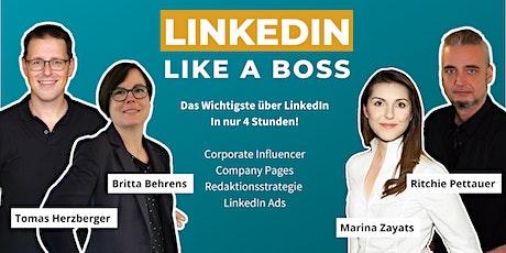Masterclass: LinkedIn Like A Boss (Corporate Edition AUG 2021) Tickets