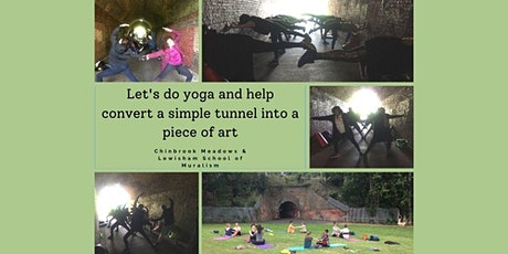Turning a tunnel into a piece of art - Fundraising Yoga class tickets