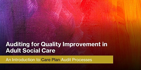 Care Plan Audits: Auditing for Quality Improvement in Adult Social Care: tickets