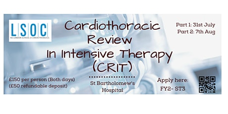 Cardiothoracic Review in Intensive Therapy (CRIT) Course tickets