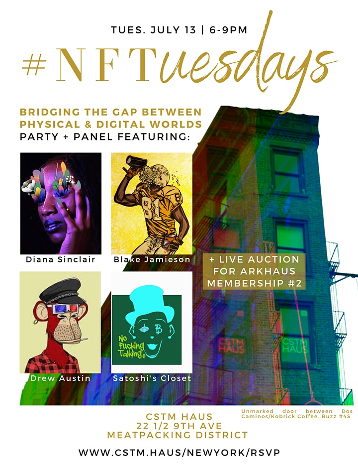 #NFTuesdays at CSTM HAUS NYC image