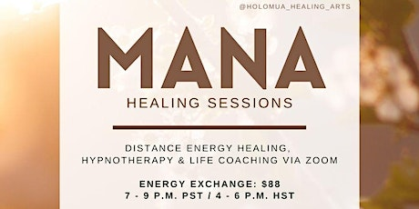 Mana Healing Sessions tickets