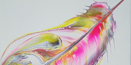 Fluid Art Experience - FEATHERS OR BUTTERFLY - String pull technique tickets