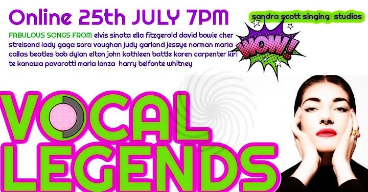 Vocal Legends - An Evening of Song Celebrating Sheer Vocal Fabulousness! image