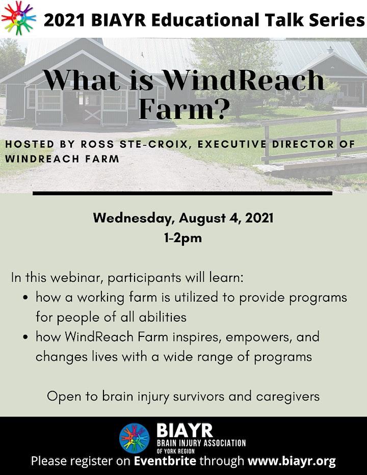 What is WindReach Farm? - 2021 BIAYR Educational Talk Series image