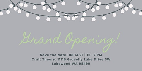 Craft Theory Grand Opening tickets