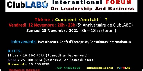 CIFOLAB : ClubLABO International FORUM On Leadership And Business billets