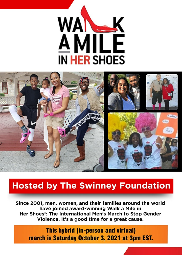 Walk a Mile in Her Shoes domestic violence awareness march image