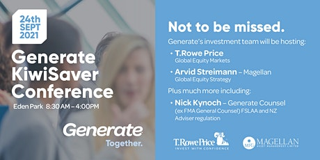 Generate KiwiSaver Conference tickets