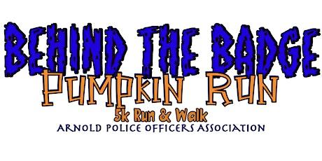 Behind The Badge Pumpkin Run (5k run & walk) tickets