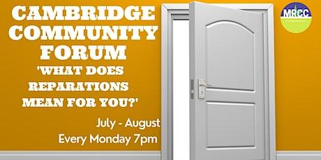 CAMBRIDGE COMMUNITY CONVERSATIONS FOR REPARATIONS tickets