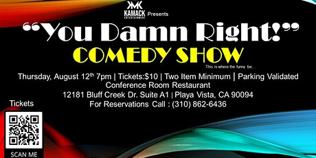 """""""You Damn Right!"""" Thursday Night Comedy at  The Conference Room tickets"""