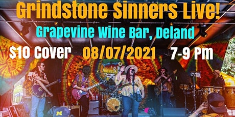 Grindstone Sinners @ Grapevine Wine Bar, Deland tickets