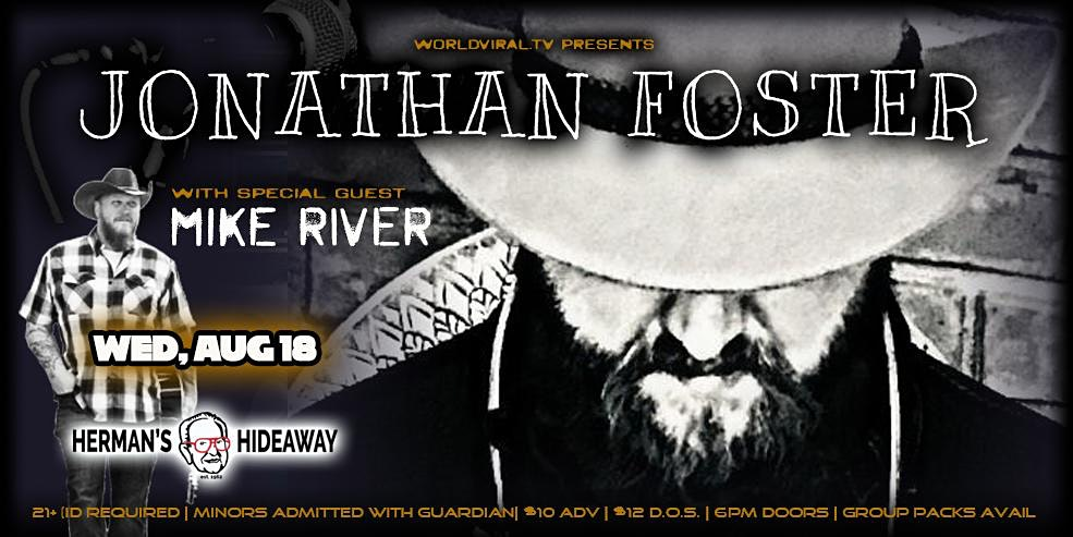 JONATHAN FOSTER  w/ special guest: MIKE RIVER (Early Show 6pm)
