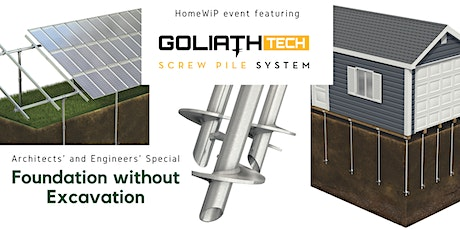 Foundations without excavation - special event for architects and engineers tickets