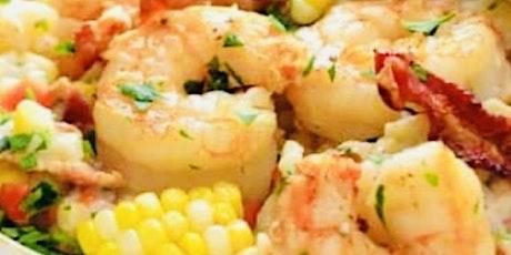Shrimp& Sweet  Corn  Risotto w/ Pancetta ALSO Tomato Basil Crostini tickets