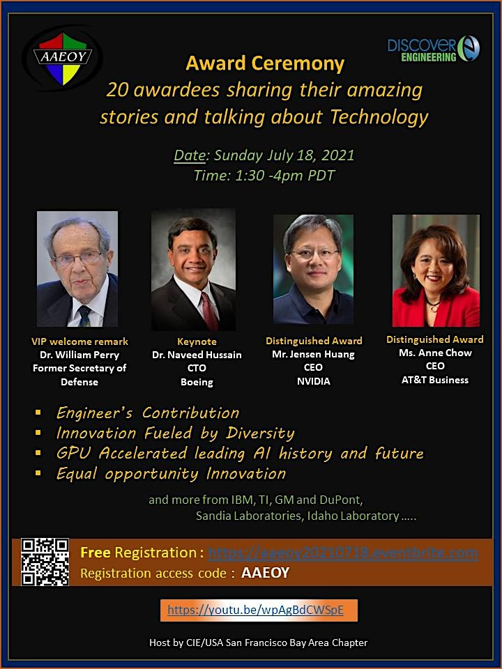 2020-2021 Asian American Engineer of the Award Ceremony (Access code:AAEOY) image