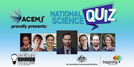 National Science Quiz tickets