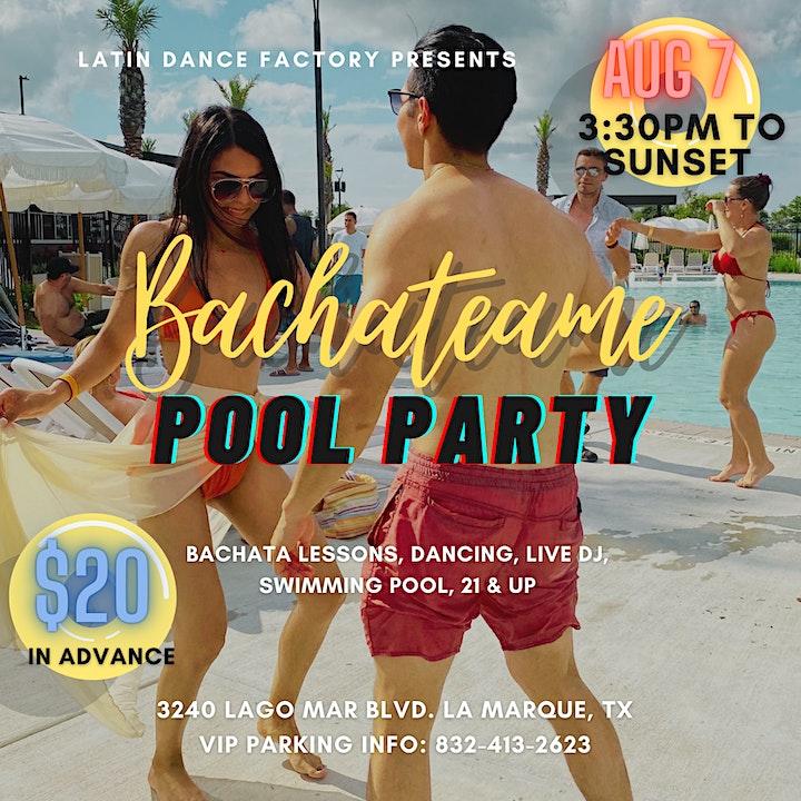 Bachateame! Bachata Pool Party by the Lagoon! 08/07 image