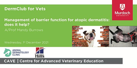 DermClub for Vets - Management of barrier function for atopic dermatitis tickets