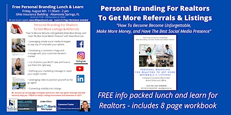 Personal Branding For Realtors - Become Unforgettable tickets