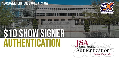 JSA Authentication at FanX Salt Lake Comic Con tickets