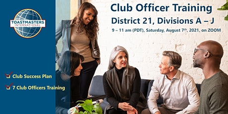 D21Toastmasters Club Officer Training tickets