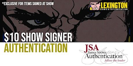 JSA Authentication at Lexington Comic Con tickets