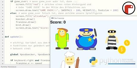 FabLabKids: Spiele programmieren in Python – Game-Design, 3-tägig Tickets
