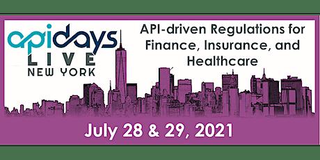 apidays LIVE NEW YORK 2021 -  API-driven Regulations for Finance, Insurance tickets