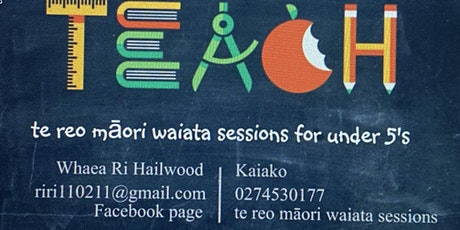 te reo māori waiata sessions for under 5s tickets