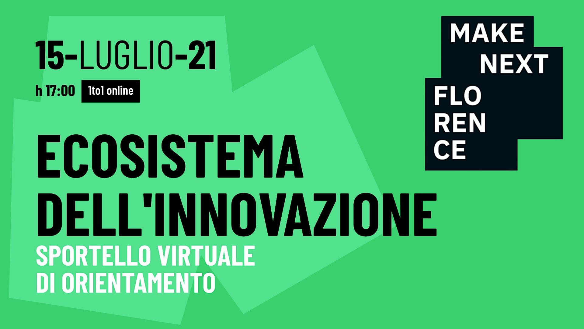 Ecosistema dell'Innovazione: Sportello virtuale di orientamento