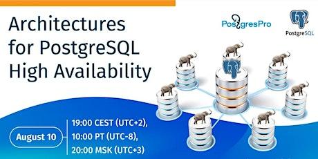Architectures for PostgreSQL High Availability biglietti